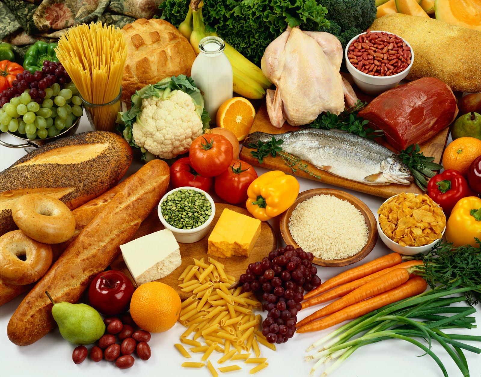 В картинке все продукты питания
